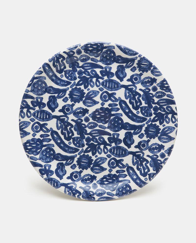 Piatto da portata con decorazioni in ceramica