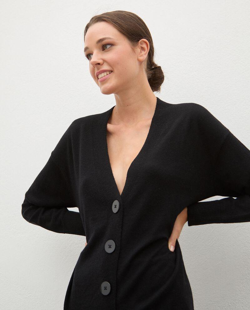 Cardigan tricot in lana con bottoni donna single tile 2