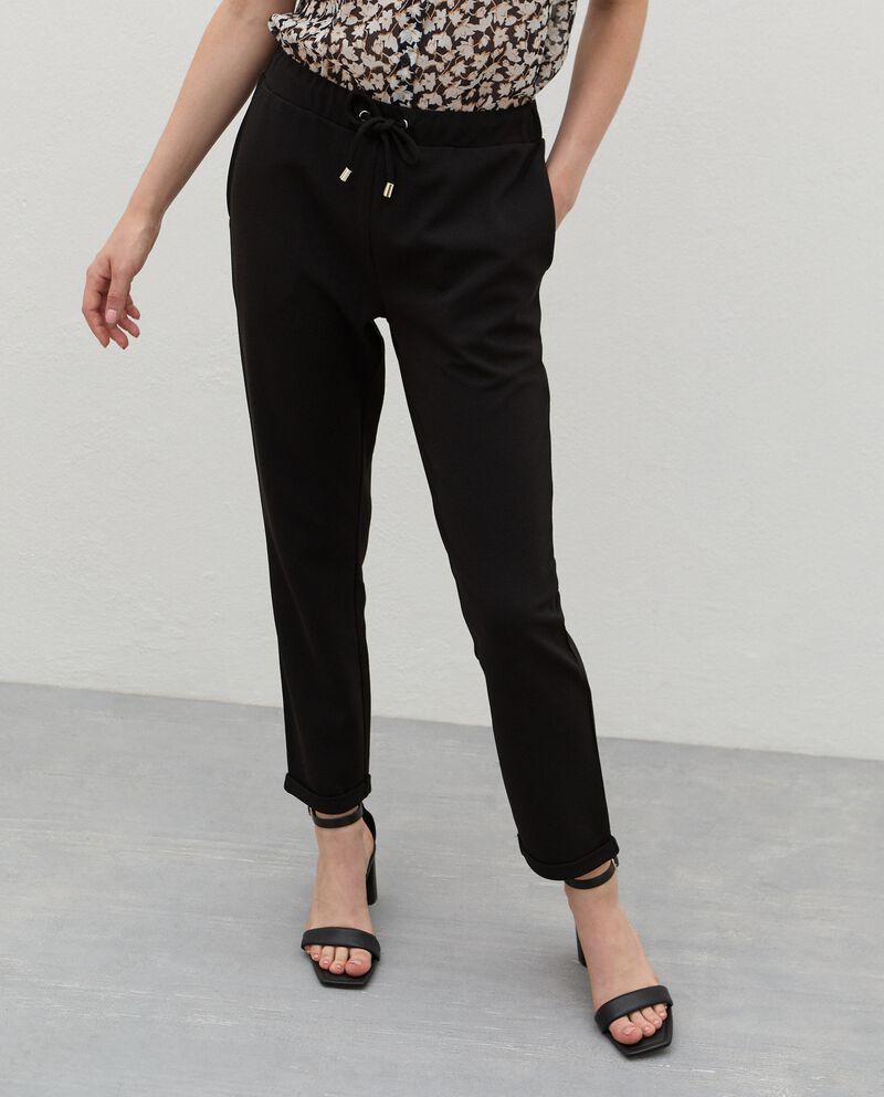 Pantaloni con coulisse crepe donna single tile 2