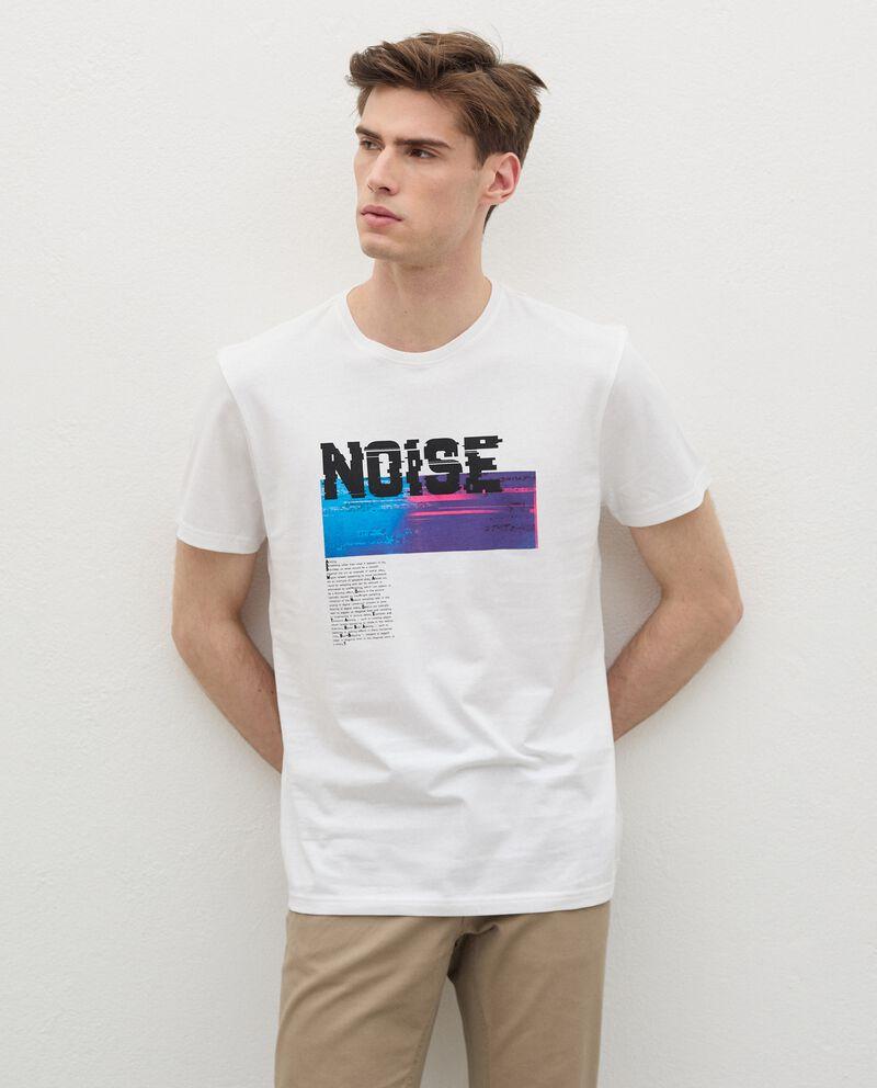 T-shirt in cotone organico con stampa uomo cover