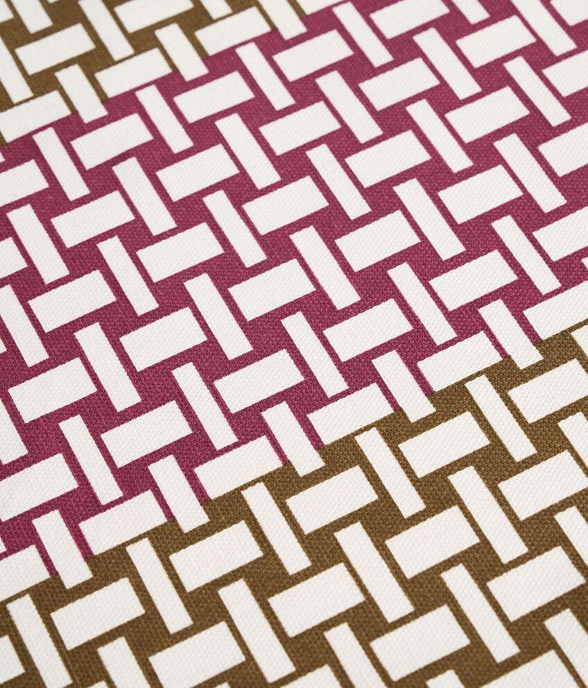 Tovaglia con stampa intrecciata di puro cotone double 2