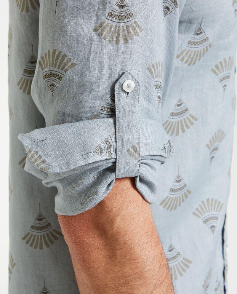 Camicia a maniche corte in puro lino uomo