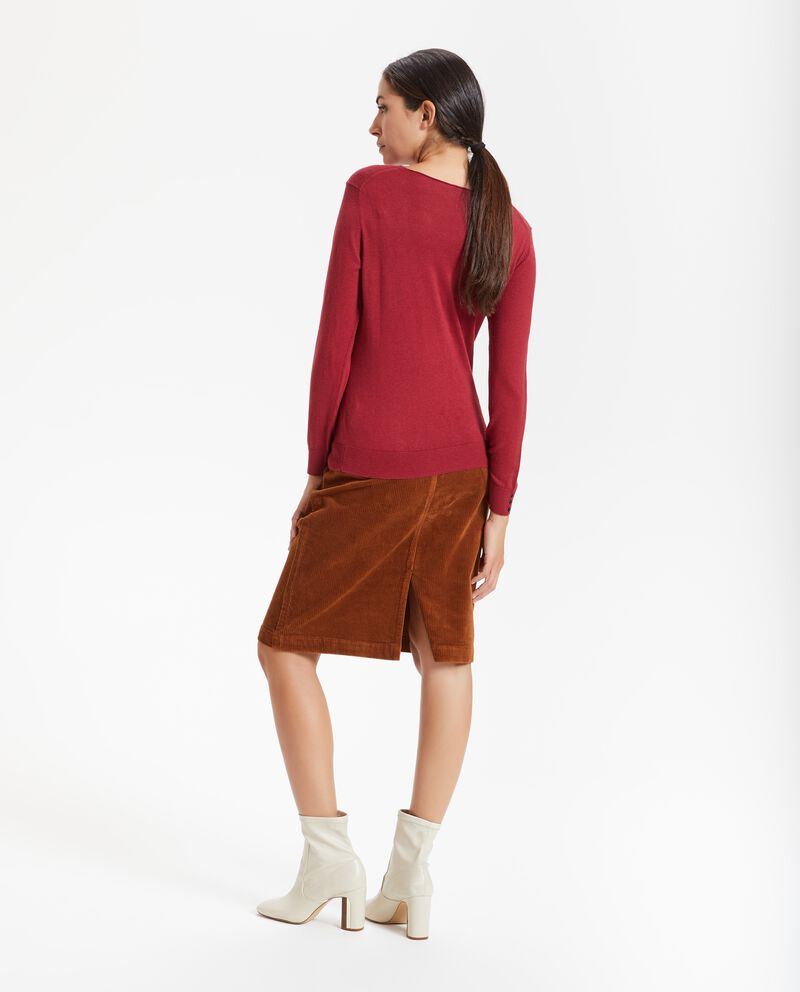 Pullover in tinta unita donna