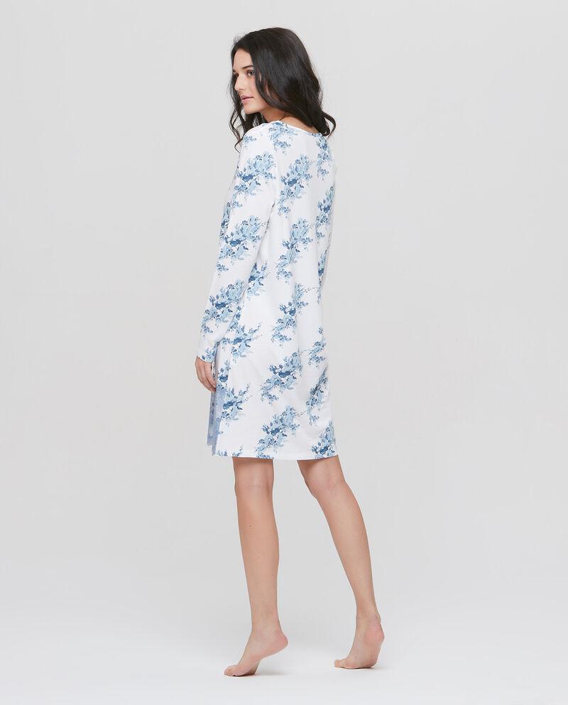 Camicia da notte stretch floreale