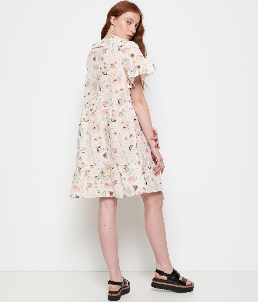 Vestito in cotone misto lino stampato double 2