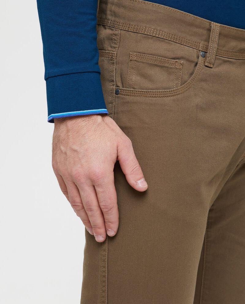 Pantaloni puro cotone cinque tasche