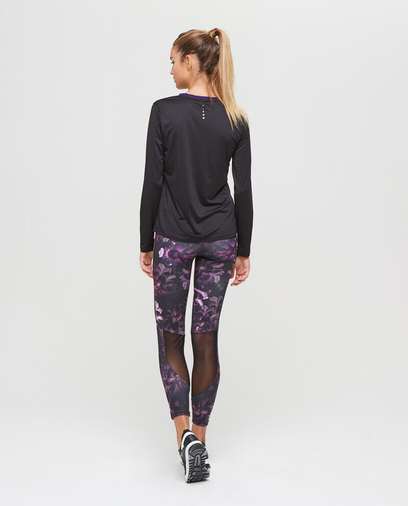T-shirt sportiva stretch con lurex