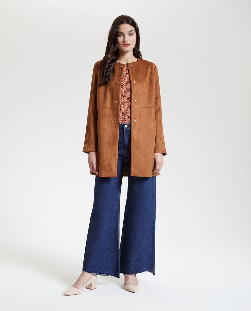 Cappotto con effetto velluto donna