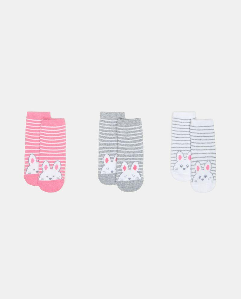 Tripack calze corte antiscivolo neonata
