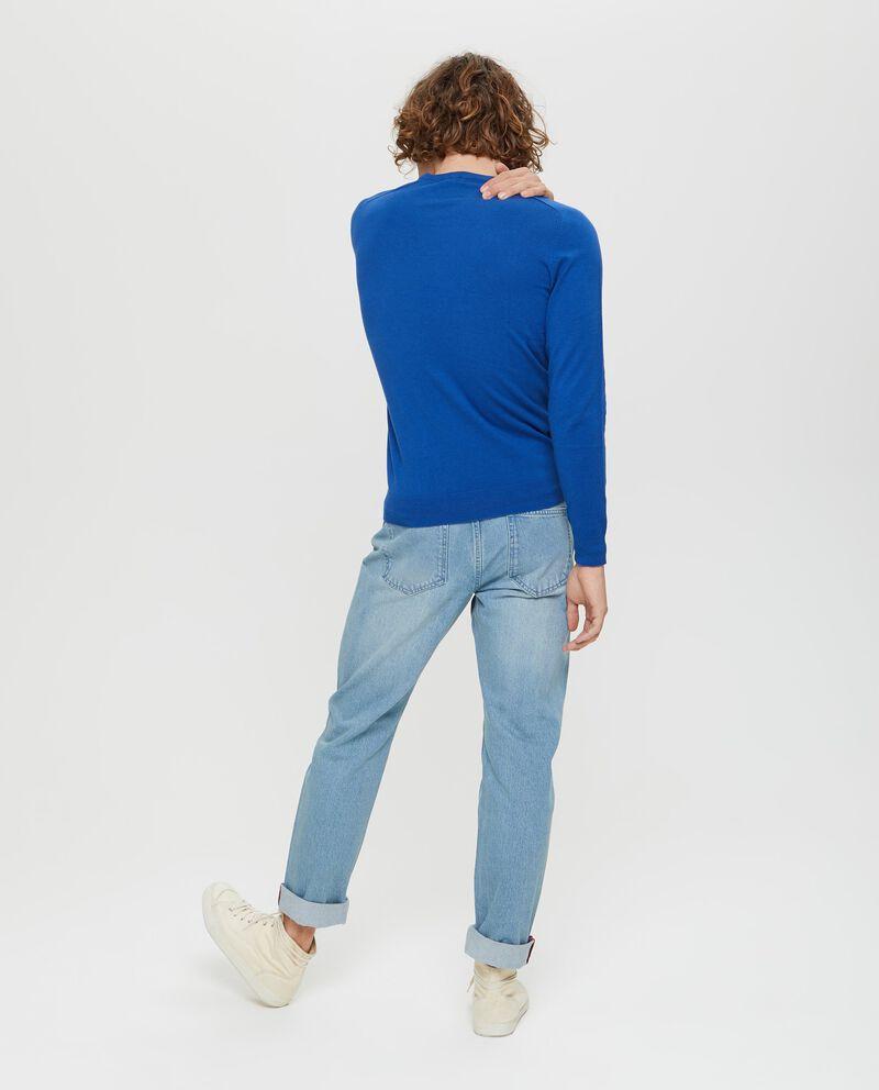 Pullover lavorato tricot con costina
