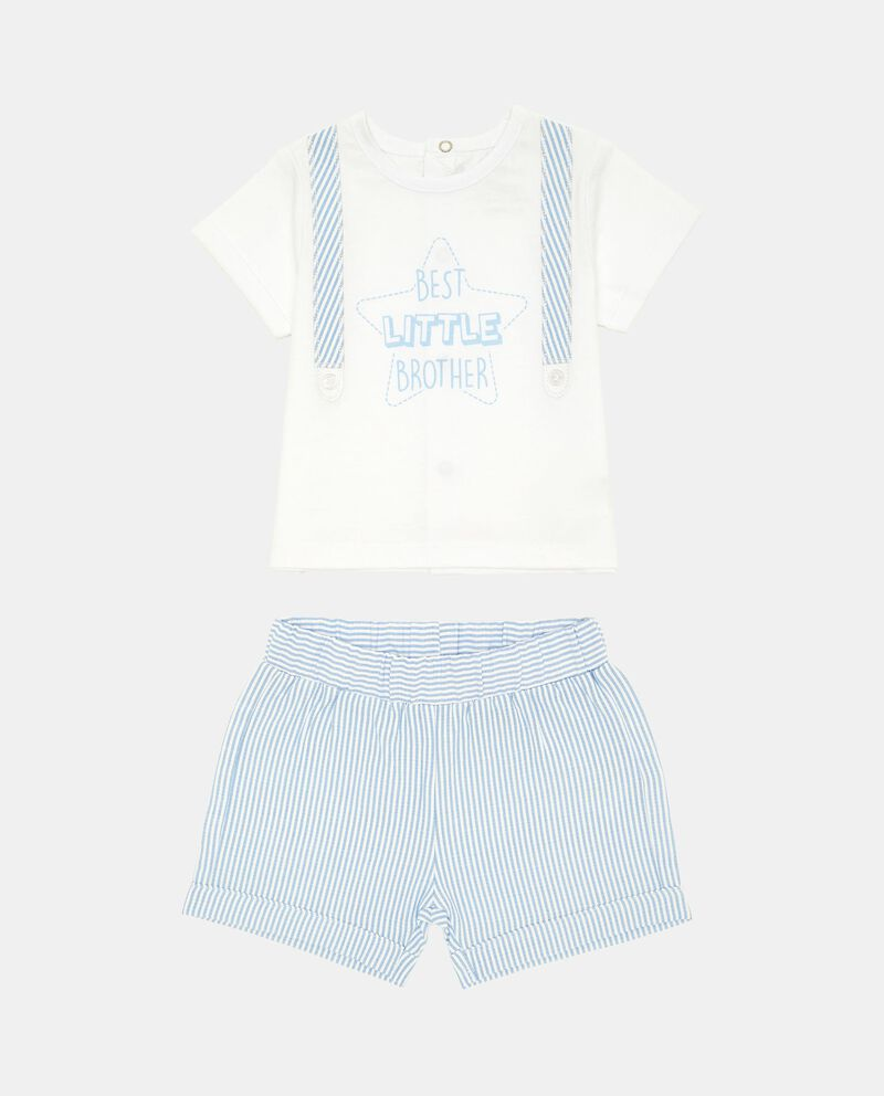 Completino t-shirt e shorts lettering