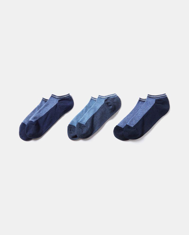 Set calzini sportivi con doppio colore uomo