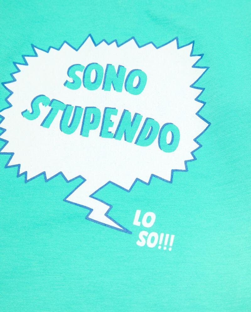 T-shirt stampata in cotone organico neonatodouble bordered 1