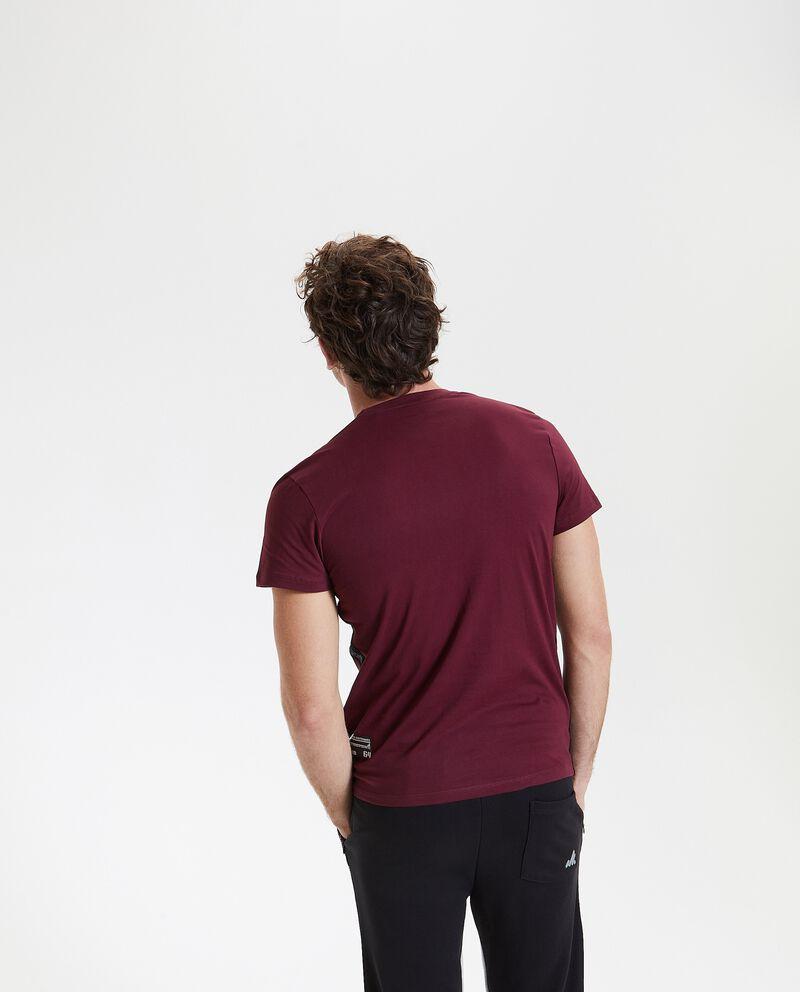 T-shirt con bande in puro cotone uomo