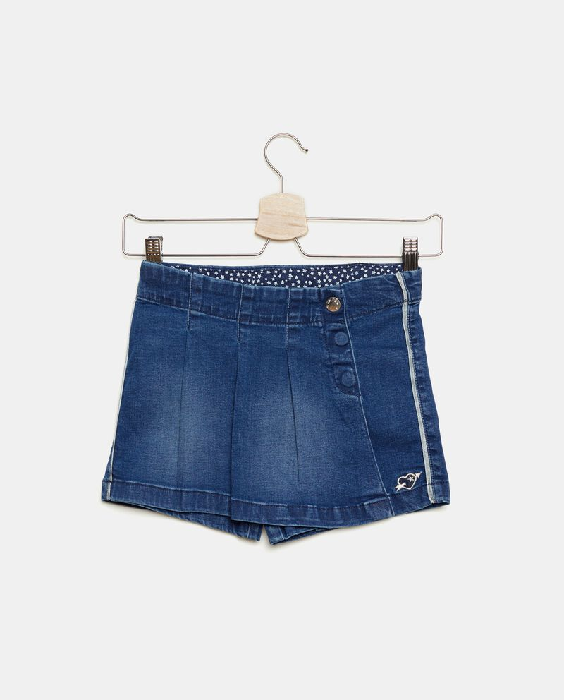 Gonna pantalone in denim bambina