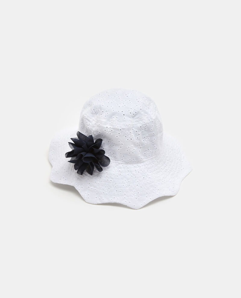Capello da spiaggia in cotone bianco bambina