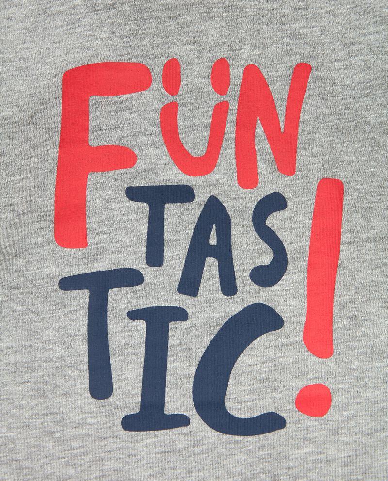 T-shirt stampata effetto mélange neonato