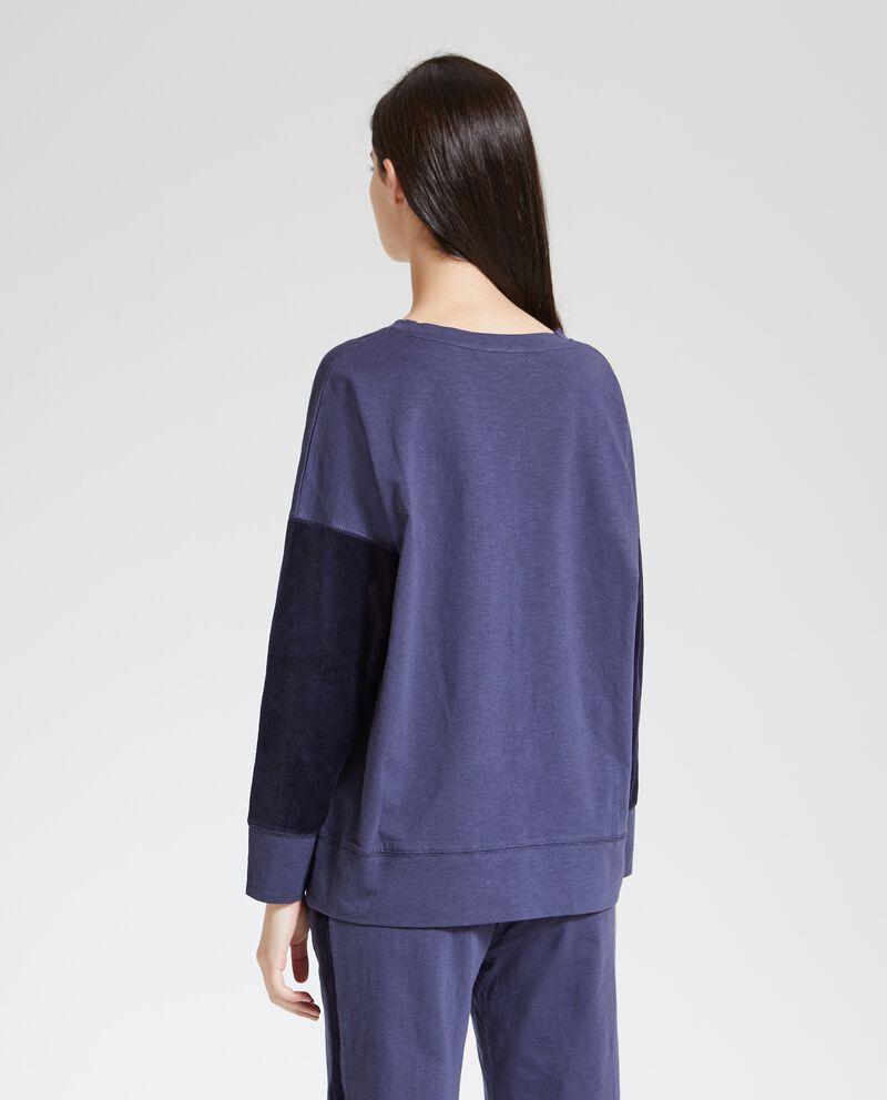 Maglia pigiama con maniche a contrasto donna