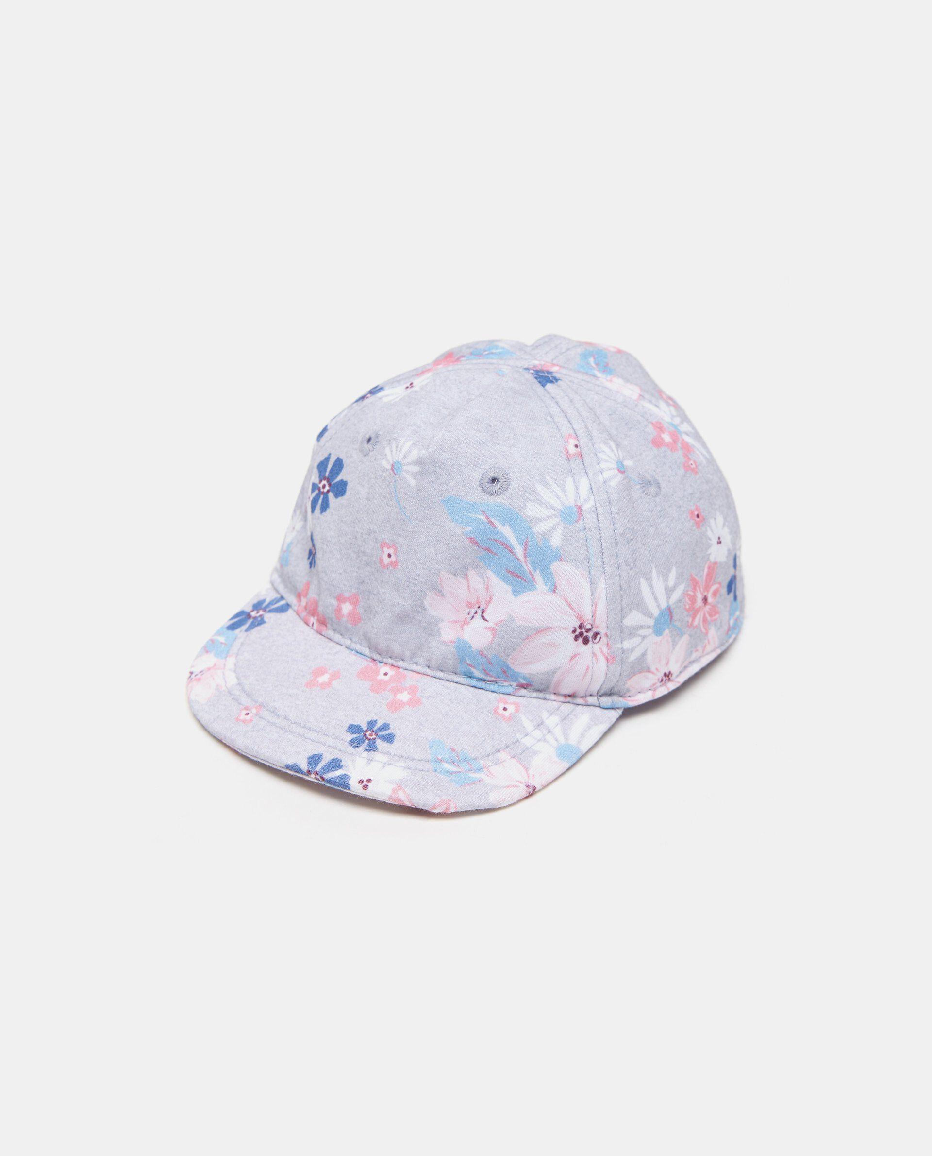Cappellino con visiera floreale