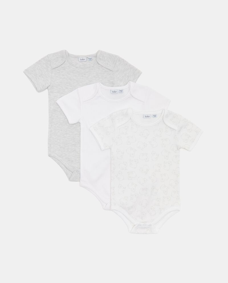 Pack con 3 body in cotone organico neonato cover