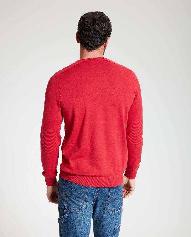 Maglione con righe in rilievo uomo
