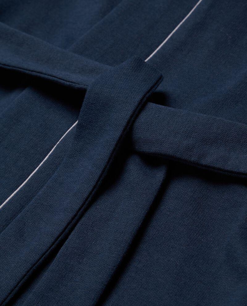 Giacca vestaglia con profili a contrasto