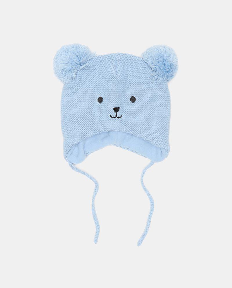 Berretto a forma di orsetto in maglia neonato cover