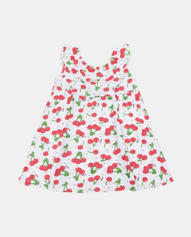 Vestito stampato in cotone organico jersey neonata