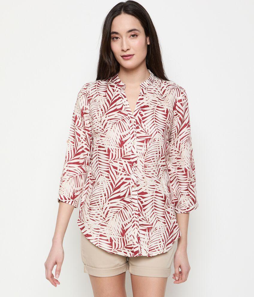 Camicia stampata in puro lino donna