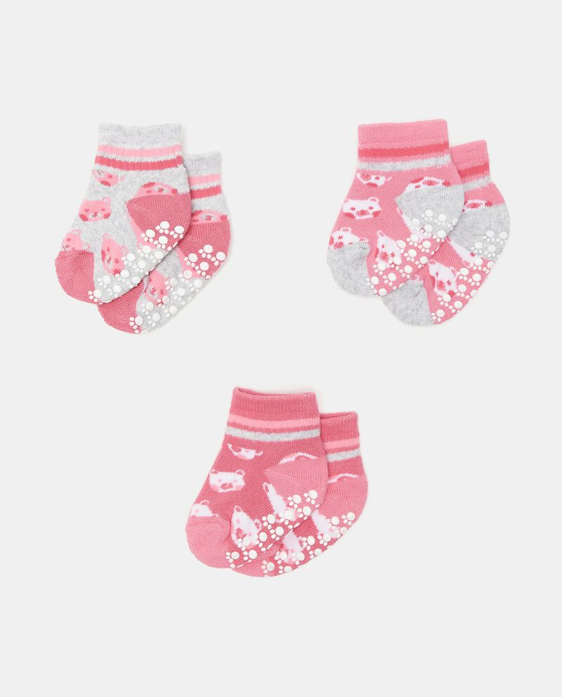 Set di 3 paia di calzini antiscivolo in cotone organico neonata cover