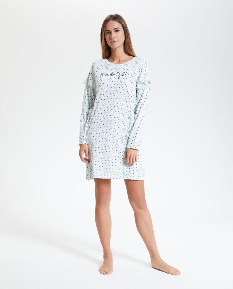 Camicia da notte con pois donna