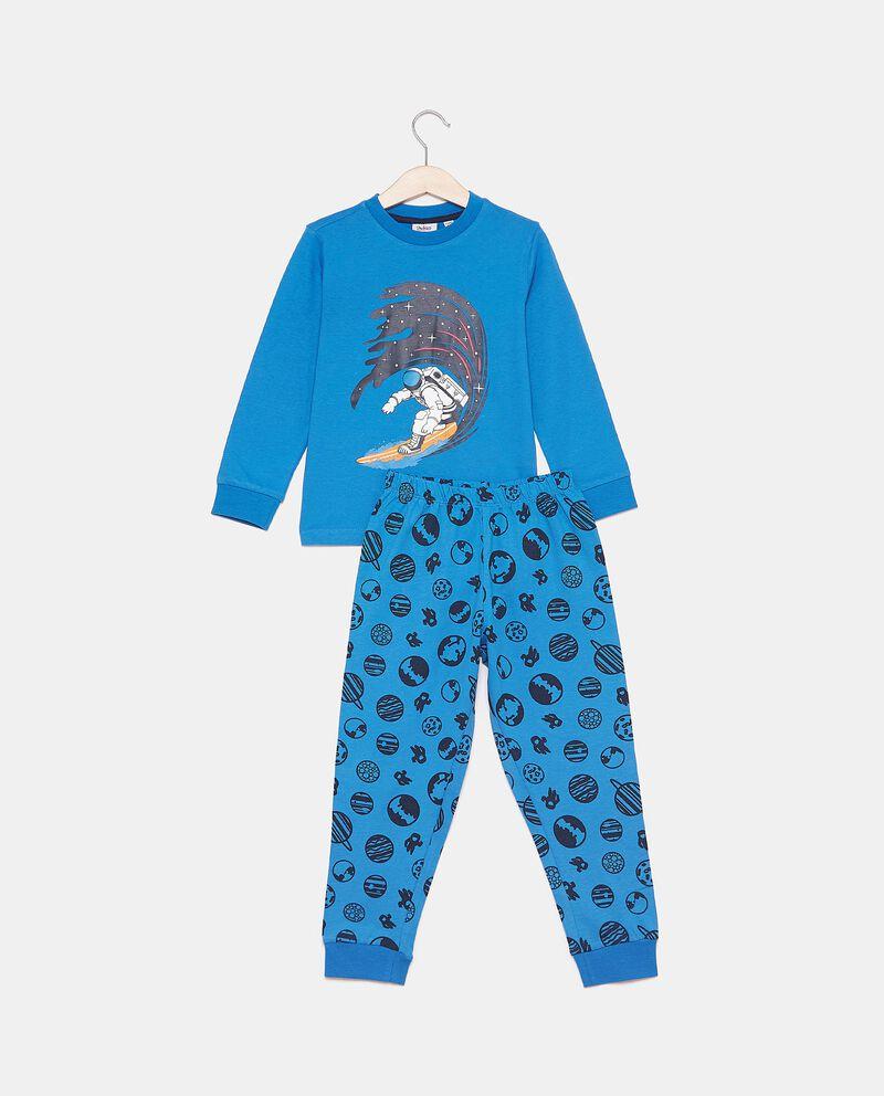 Set pigiama con fantasia in puro cotone