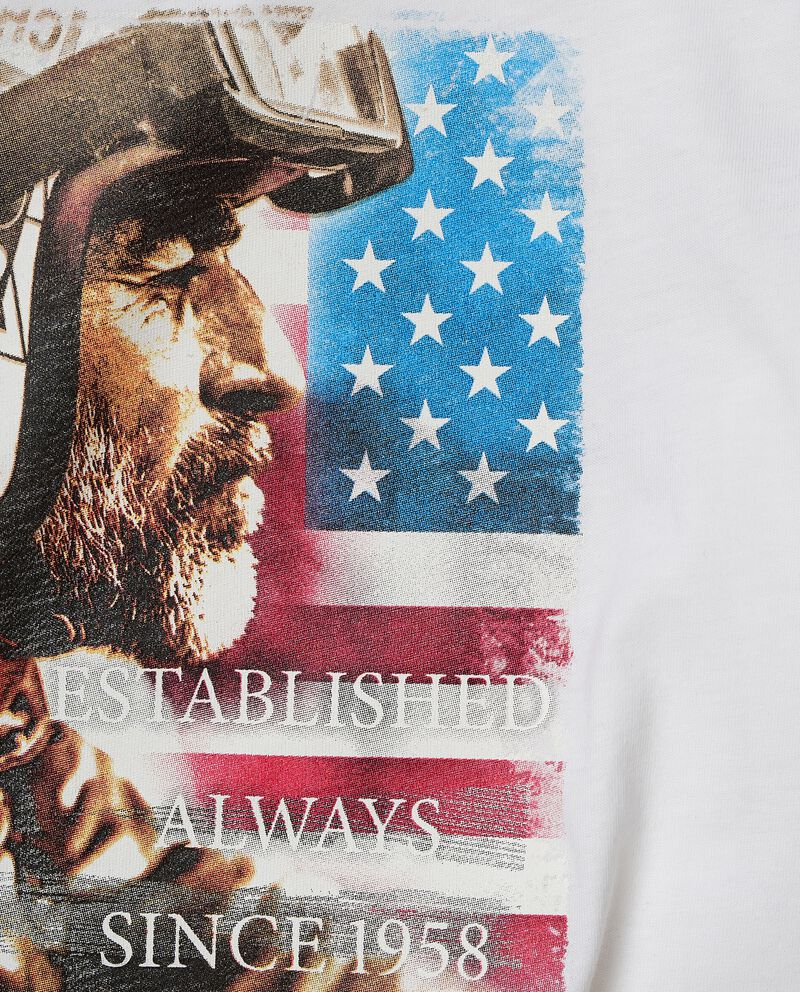 T-shirt con stampa di cotone organico jersey single tile 1