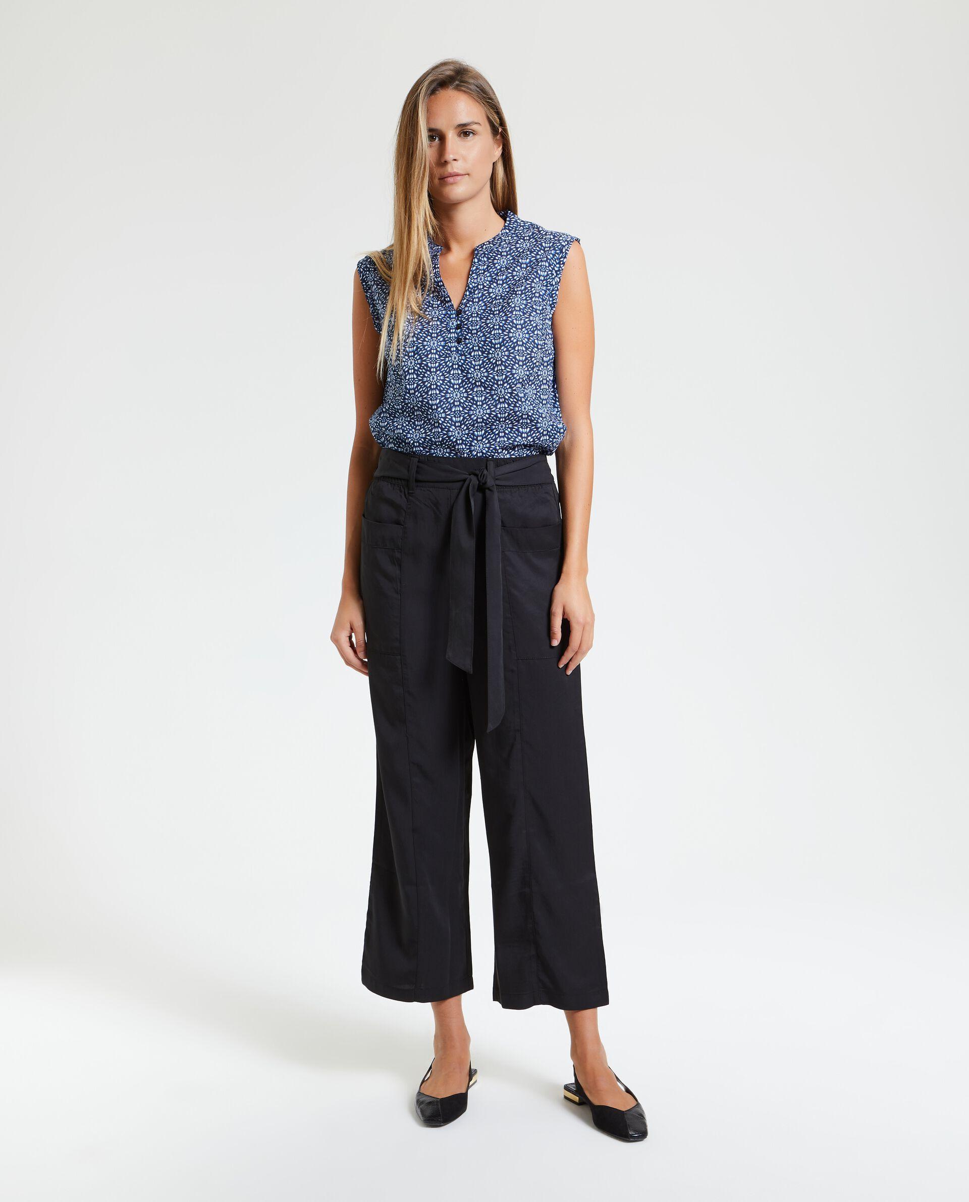 Pantaloni a palazzo cropped donna