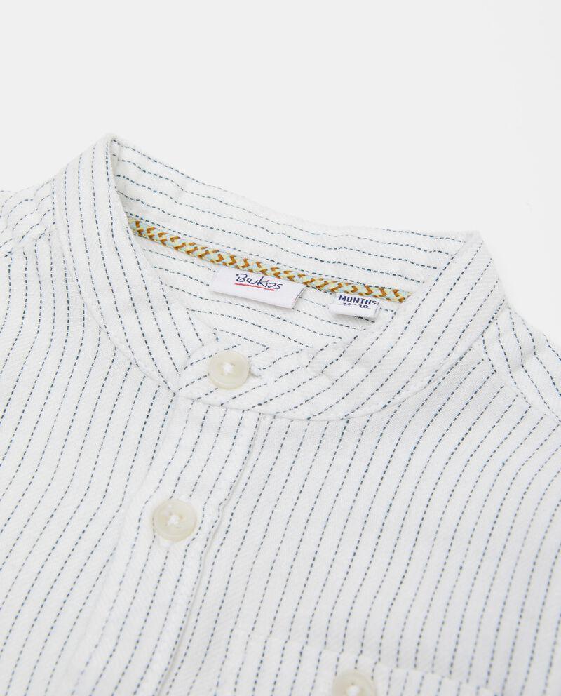 Camicia in puro cotone biologico a righe neonato
