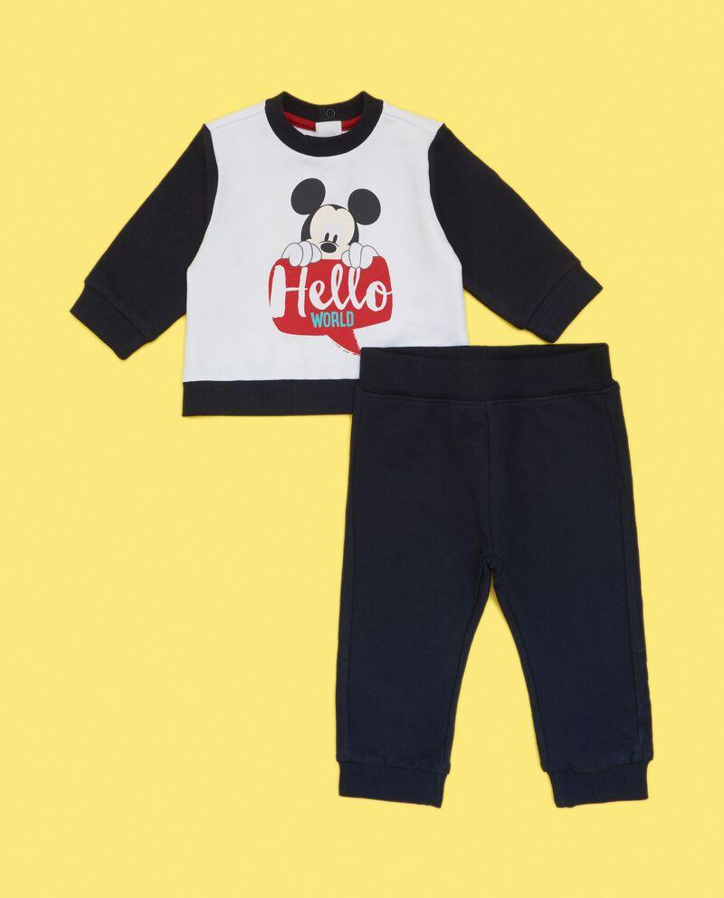 Set felpa stampata e pantaloni neonato