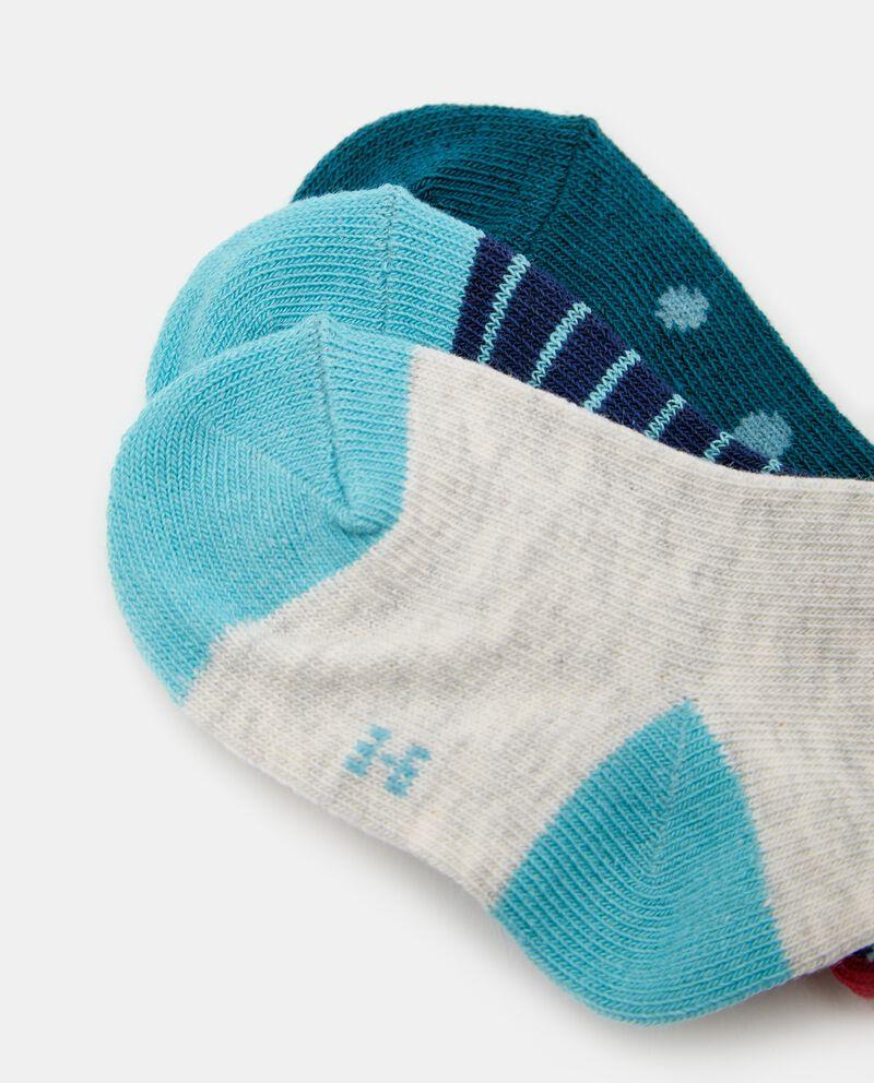 Pack con 3 paia di calze in cotone organico neonato single tile 1