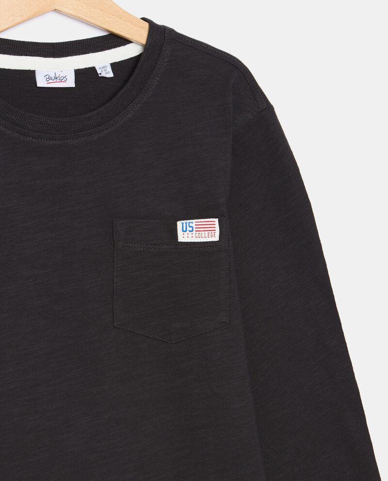 T-shirt con taschino di cotone organico ragazzo single tile 1