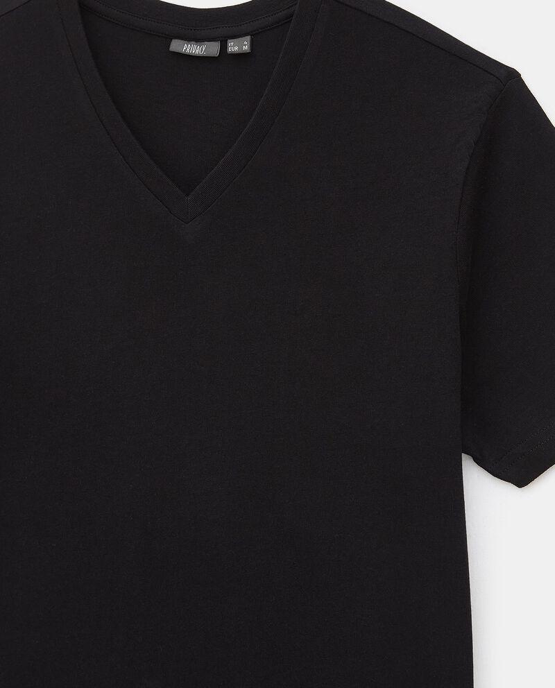 T-shirt intima di cotone organico con scollo a V uomo single tile 1