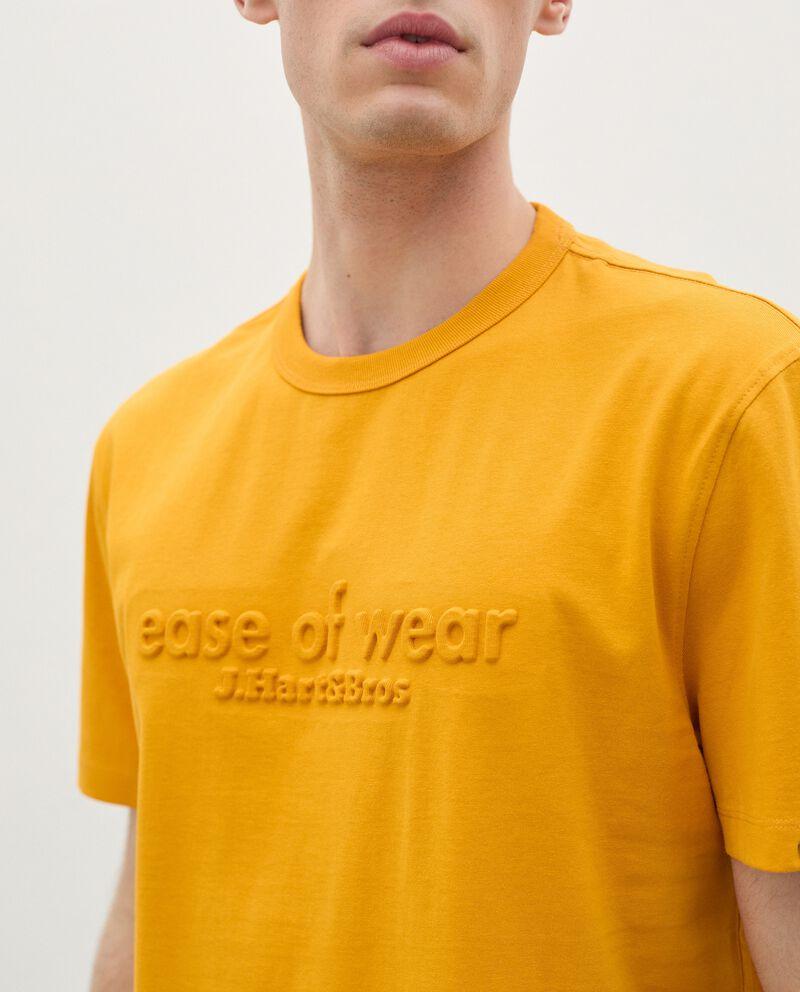 T-shirt in puro cotone con lettering 3D uomo single tile 2