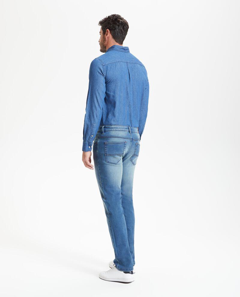 Jeans slim cordoncino uomo