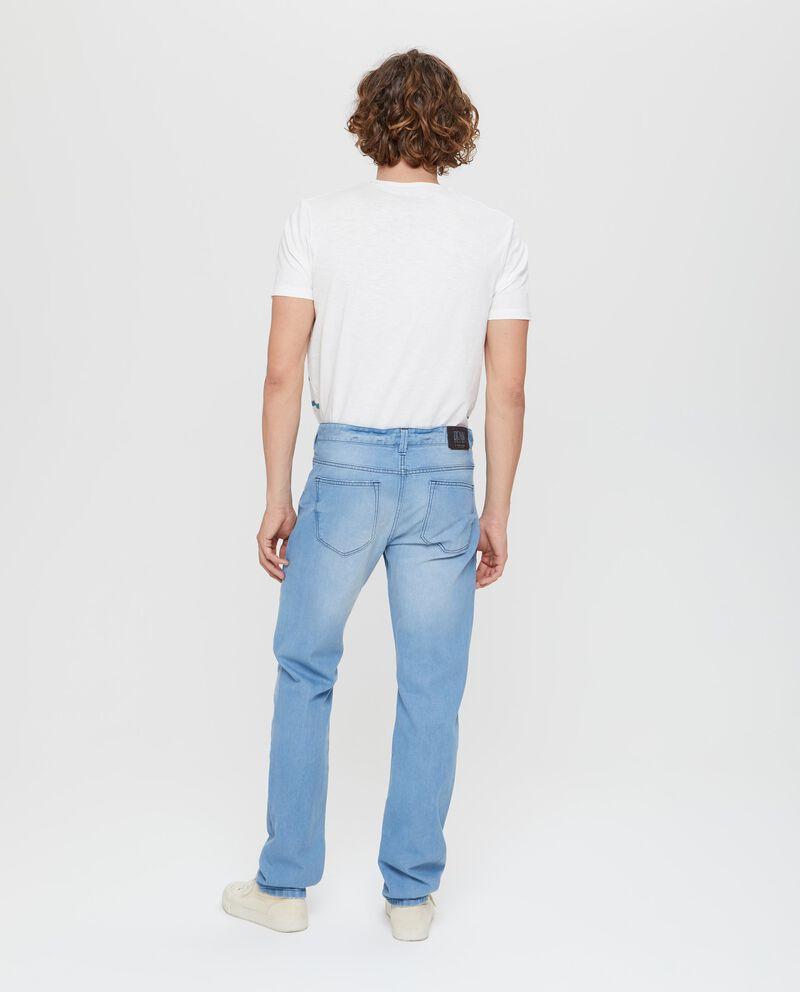 Jeans in puro cotone regular fit azzurro