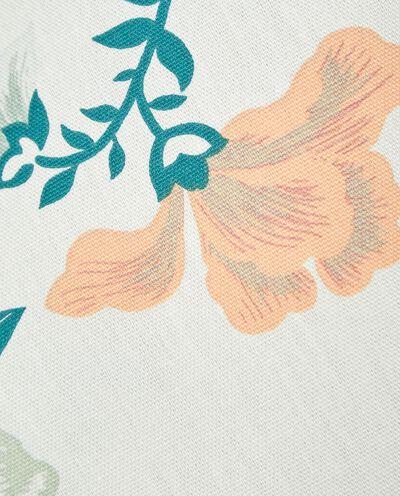 Strofinaccio con fantasia floreale in puro cotone