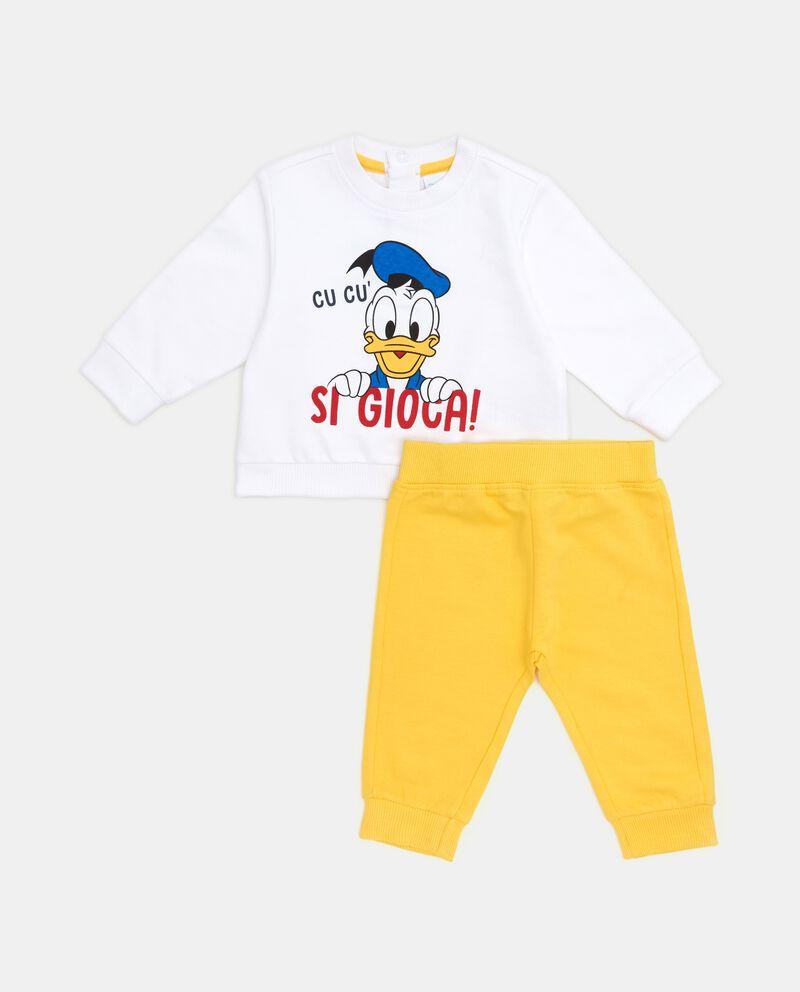 Set felpa e pantaloni in puro cotone neonato