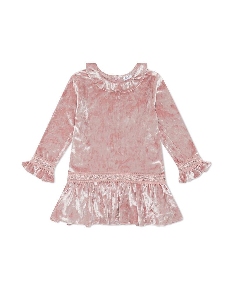 Vestito effetto velluto neonata