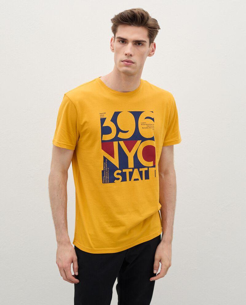T-shirt con stampa di cotone organico uomodouble bordered 0