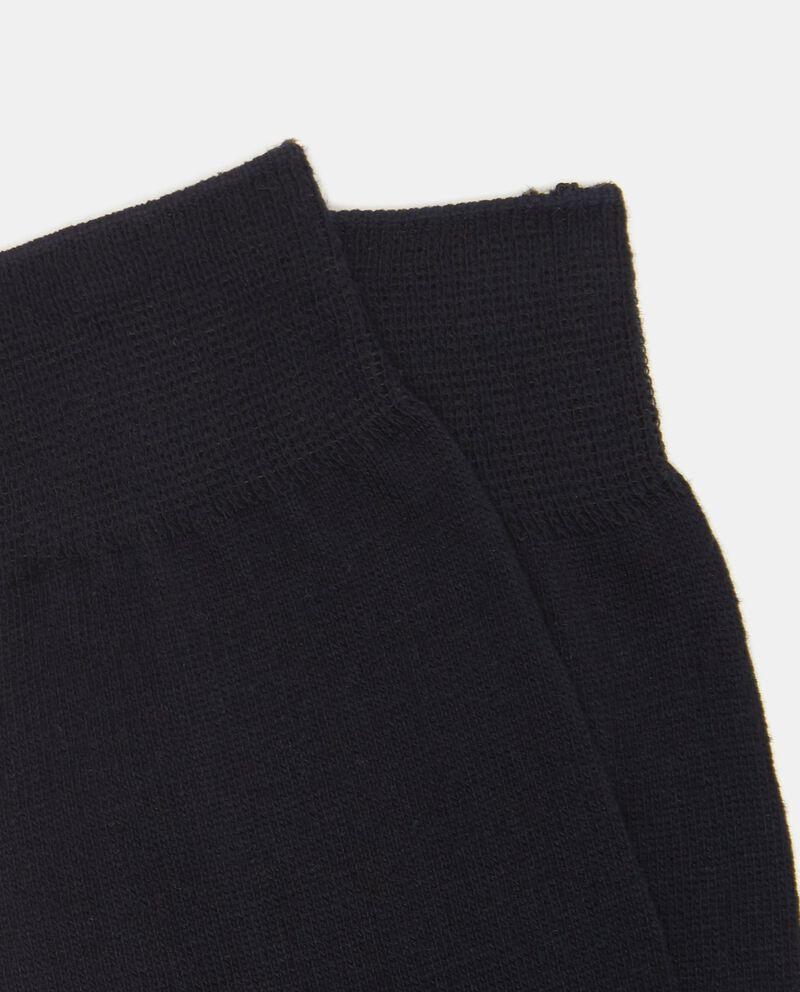 Calze corte blu scuro trama uniforme