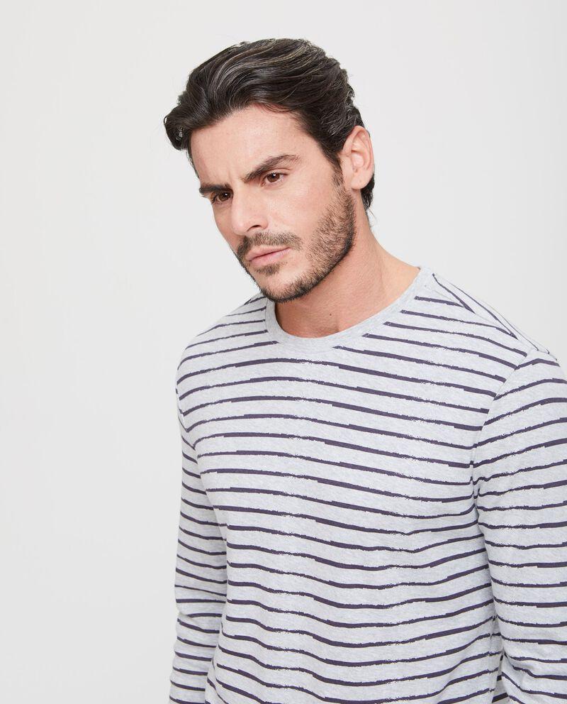 Maglia pigiama puro cotone a righe