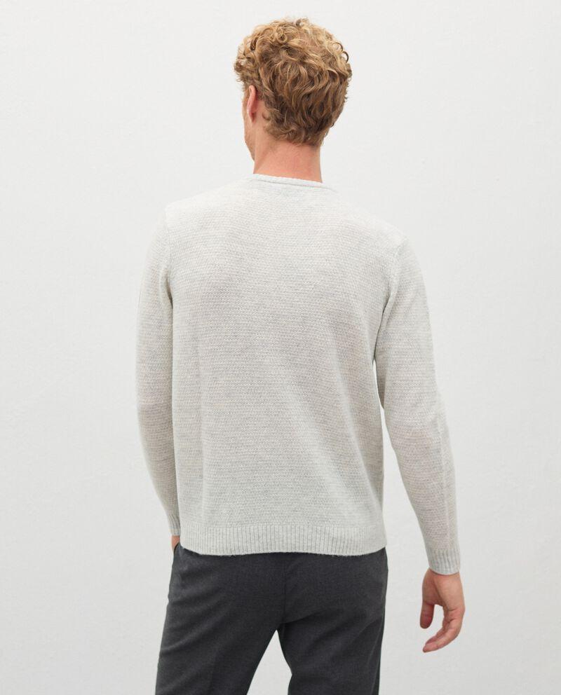 Pullover tricot in pura lana merino uomodouble bordered 1