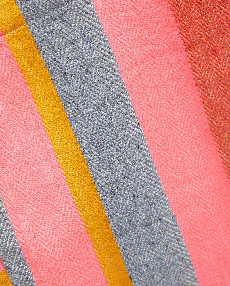 Borsa mare in canvas di cotone a righe donna